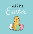 easter easter chicken vector image vector image