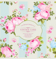 elegant seamless rose pattern vector image