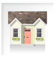 elements architecture with a small house icon vector image vector image