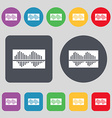 Equalizer icon sign A set of 12 colored buttons vector image vector image