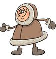 eskimo cartoon vector image