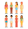 flat style people figures icons vector image vector image