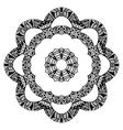 Flower zentangle style pattern vector image