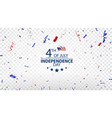 fourth july independence day usa design vector image vector image