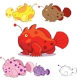 Funny frogfishes vector image vector image