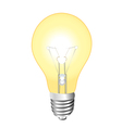 glowing light bulb vector image vector image