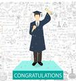 Graduation student vector image