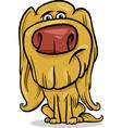hairy dog cartoon vector image vector image