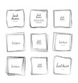 hand drawn square frames vector image vector image