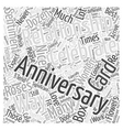 How to Celebrate An Anniversary Word Cloud Concept vector image vector image