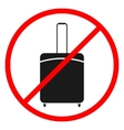 Icon ban luggage vector image