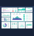 infographic dashboard template simple green blue vector image vector image