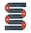 infographic flat set vector image vector image
