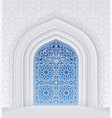 islamic design arch with ornate doors vector image