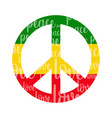 isolated colored peace symbol vector image