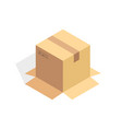 isometric cardboard icon cartoon package box vector image vector image