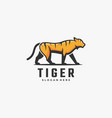 logo tiger simple mascot style vector image