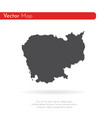 map cambodia isolated black vector image vector image