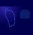 map dominica from the contours network blue vector image vector image