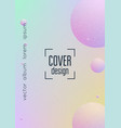 minimal shapes cover with holographic fluid vector image vector image