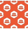 Orange hexagon user group pattern vector image vector image