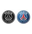 paris sain-germain football or soccer club logo vector image vector image