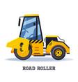 road roller construction or asphalt paving machine vector image vector image