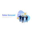 sales forecast businessman present prediction in vector image vector image