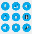 set of simple sound icons vector image vector image