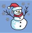 snowman cartoon mascot vector image