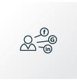 social media icon line symbol premium quality vector image vector image