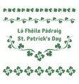 st patricks day herbal ornaments vector image vector image