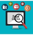 technology searching social media design vector image