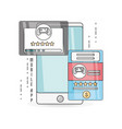 technology smartphone with touch screen apps vector image vector image