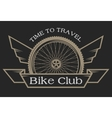 the emblem on topic bicycles vector image vector image