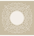 trendy linear frame with copy space vector image vector image