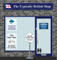 typically british shop vector image vector image