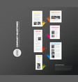 vertical infographic timeline report template vector image vector image
