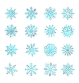 Watercolor snowflakes star symbol graphic crystal vector image vector image