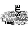 what is page rank what are back links and why do vector image vector image
