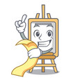 with menu easel mascot cartoon style vector image