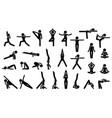 woman yoga postures stick figure pictogram vector image