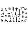 woman yoga postures stick figure pictograph vector image