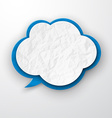 Wrinkled old paper cloud vector image vector image