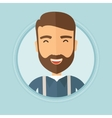 Young cheerful man laughing vector image