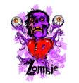 zombie heart vector image vector image
