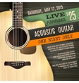 Acoustic Guitar Poster vector image