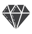 diamond glyph icon business and finance gem sign vector image