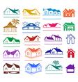 Buildings signs logo set vector image