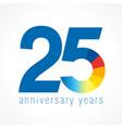 25 anniversary logo vector image vector image